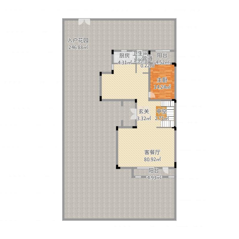 惠州_金山湖凯旋城别墅_三期Q户型第1层