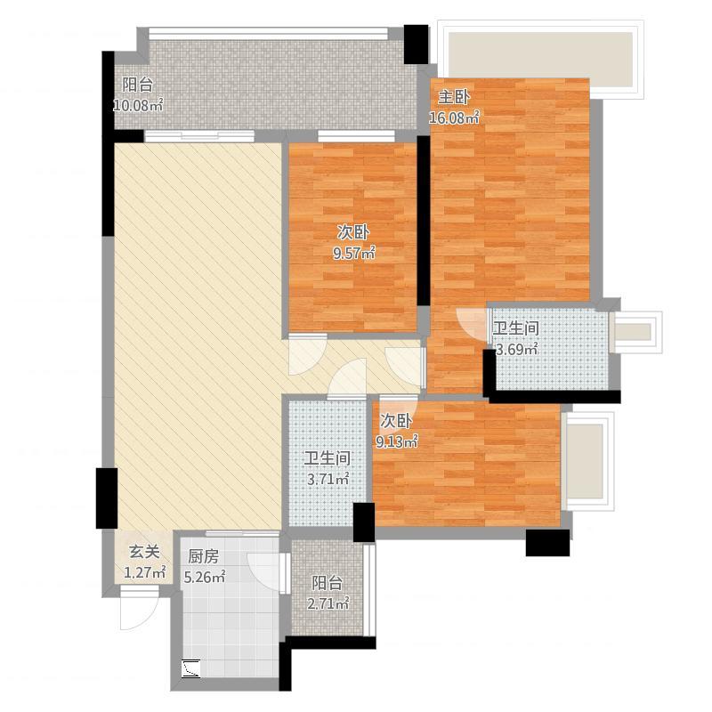 白鹭湖贝悦湾3栋04、05号房户型
