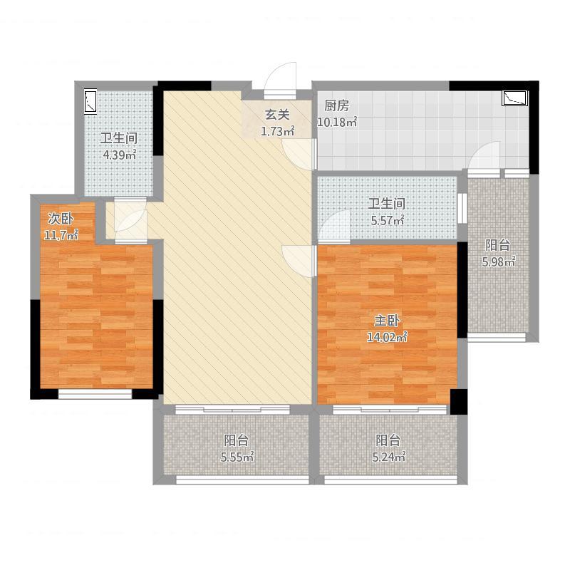 白鹭湖迪斯卡沃公寓筑梦空间户型