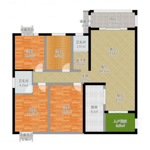 江临天下4室1厅2卫1厨149.00㎡户型图