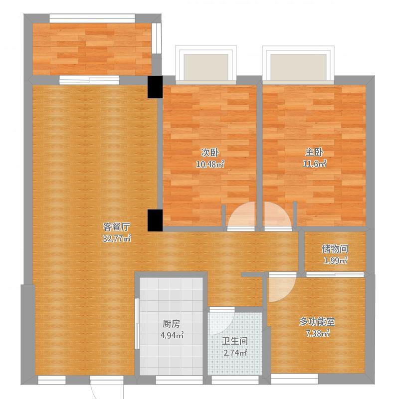 锦海名园3幢1002室酷家乐