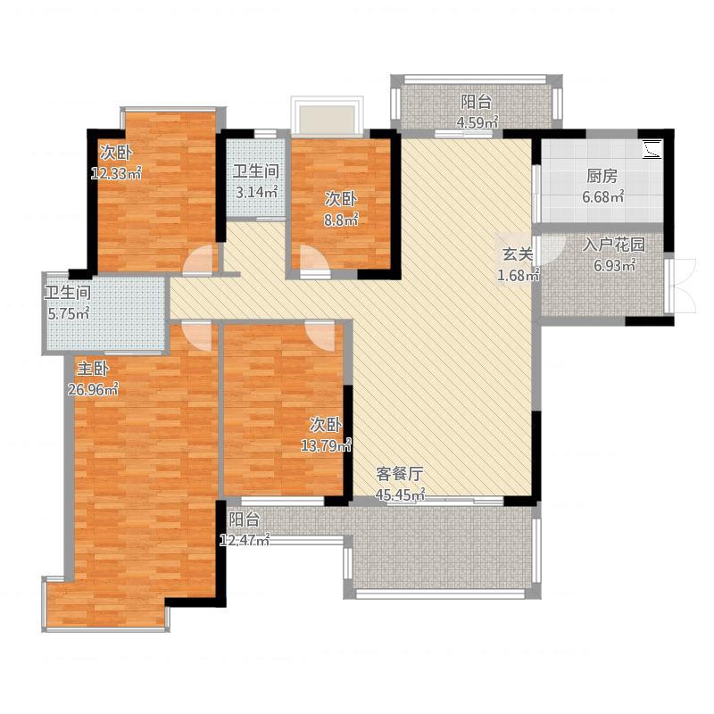 金山湖御水豪庭5栋03户型207平米