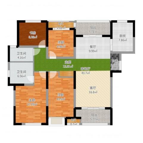建屋海德公园4室2厅3卫2厨156.00㎡户型图