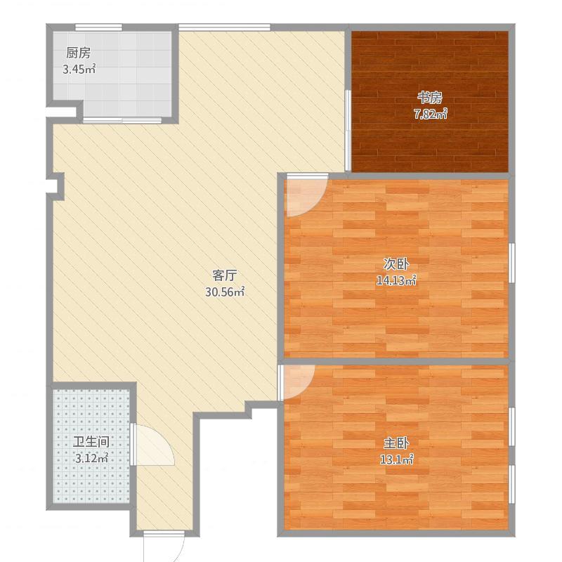 3室一厅一厨一卫