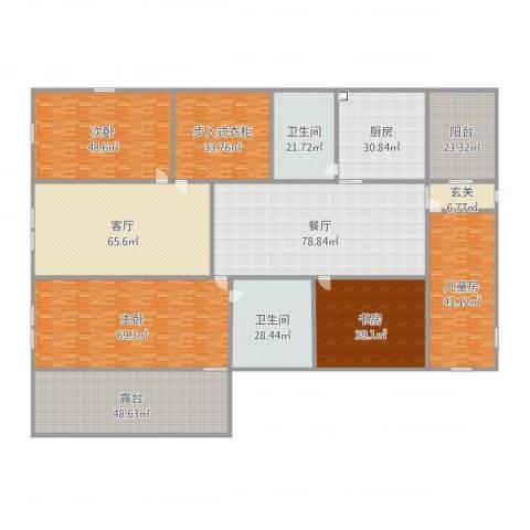新世界花园湾景华庭4室2厅2卫1厨670.00㎡户型图
