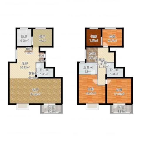 中铁四季公馆4室2厅3卫1厨215.00㎡户型图