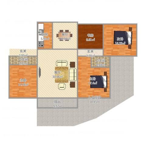 北京人家4室2厅2卫1厨147.00㎡户型图