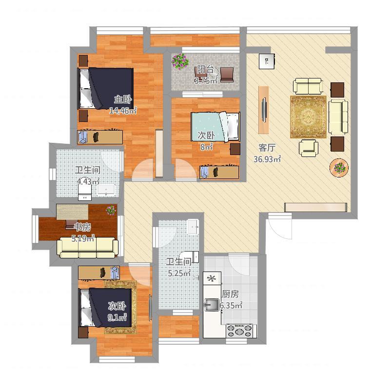 名流公馆 403栋 301室