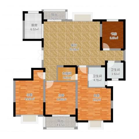 彩虹湖4室1厅2卫1厨161.00㎡户型图