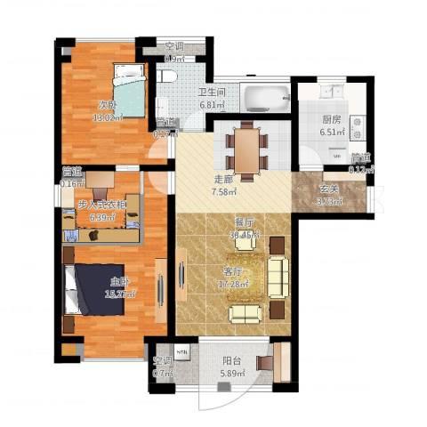 尼德兰花园二期2室1厅1卫1厨112.00㎡户型图