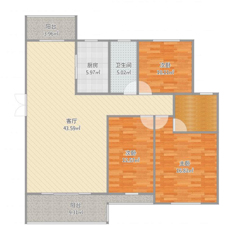 凯顺新城3室2厅