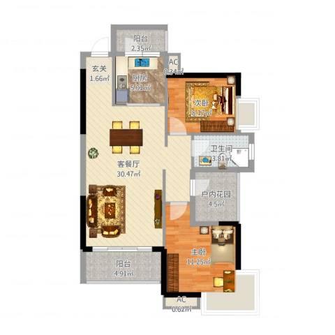 香樟1号3室2厅3卫1厨89.00㎡户型图