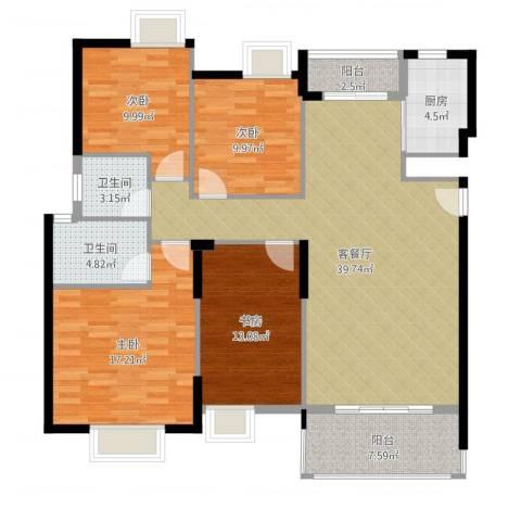 康怡花园4室2厅2卫1厨141.00㎡户型图