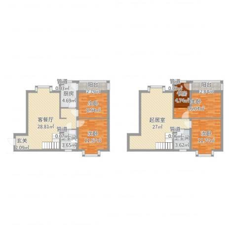 MOMA魔码二期5米44室2厅2卫1厨152.00㎡户型图