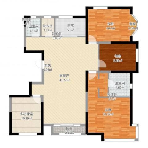 万都城3室2厅2卫1厨146.00㎡户型图