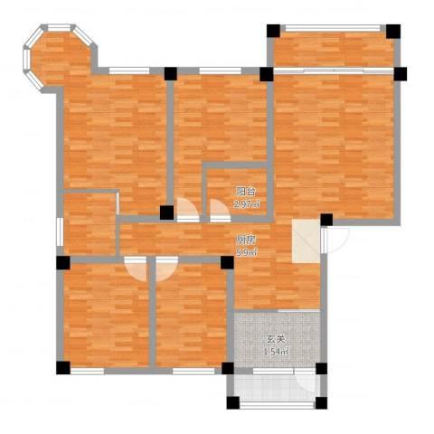 维多利亚花园4室2厅2卫1厨137.00㎡户型图