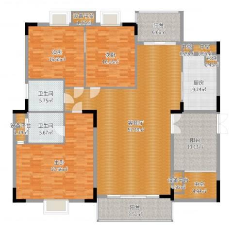 丽日豪庭3室2厅5卫5厨221.00㎡户型图