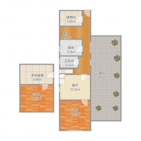 鼎隆公寓(杨浦)2室1厅1卫1厨155.00㎡户型图