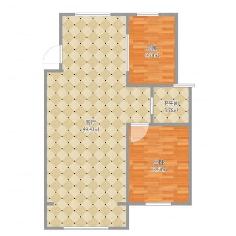 文汇苑1室1厅1卫1厨95.00㎡户型图