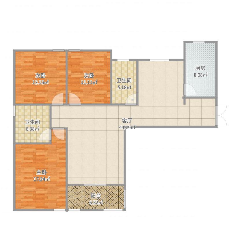 三室两厅两卫南北通透清风入室
