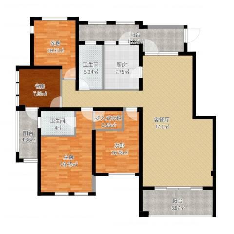 铂悦山4室2厅2卫1厨169.00㎡户型图