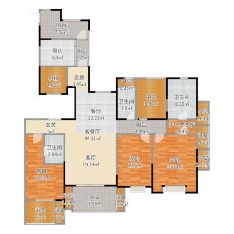 天正天御溪岸3室2厅3卫1厨196.00㎡户型图