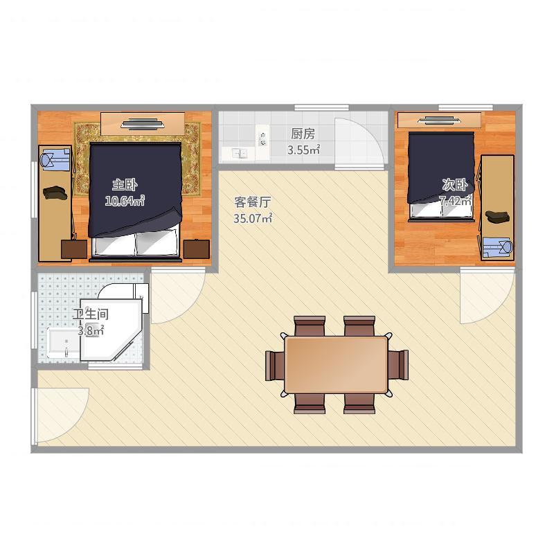 上海_平江小区2室1厅1卫_2016-03-31-1439