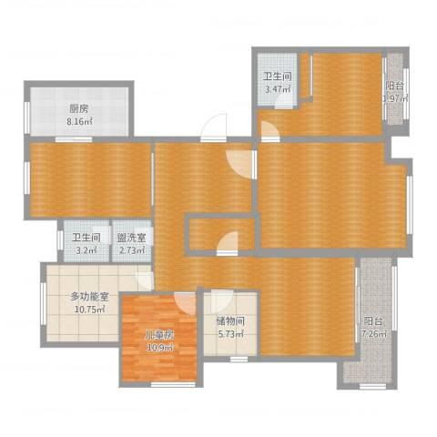 中和盛景1室2厅6卫1厨183.00㎡户型图