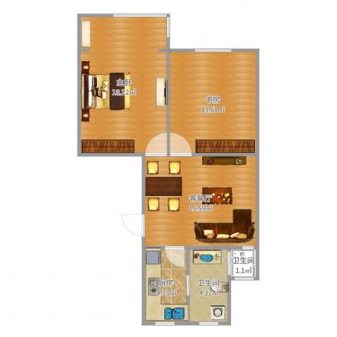 仙霞大郡2室2厅2卫1厨72.00㎡户型图