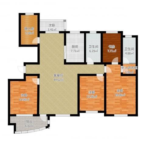城市之星5室2厅2卫1厨170.00㎡户型图
