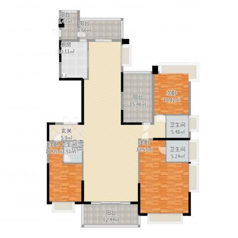 天骄御峰3室2厅3卫1厨306.00㎡户型图