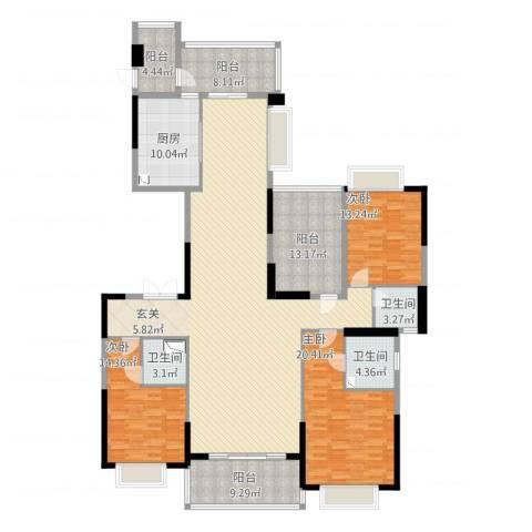 天骄御峰3室2厅3卫1厨246.00㎡户型图