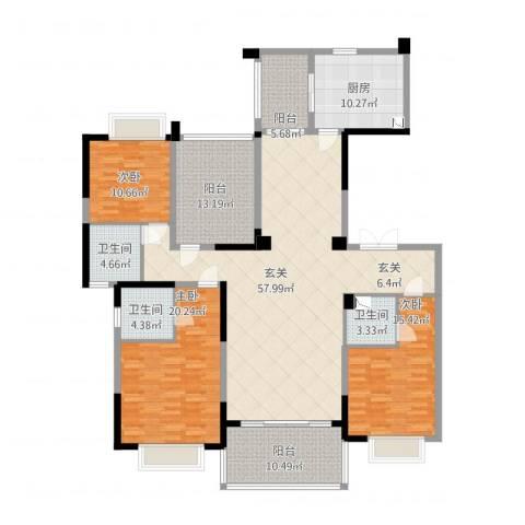 天骄御峰3室0厅3卫1厨221.00㎡户型图