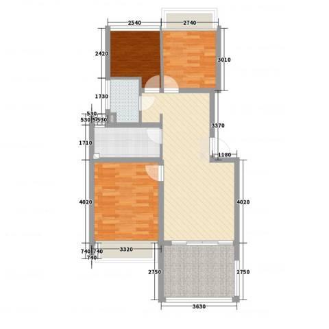 宝宸怡景园3室2厅2卫1厨78.00㎡户型图