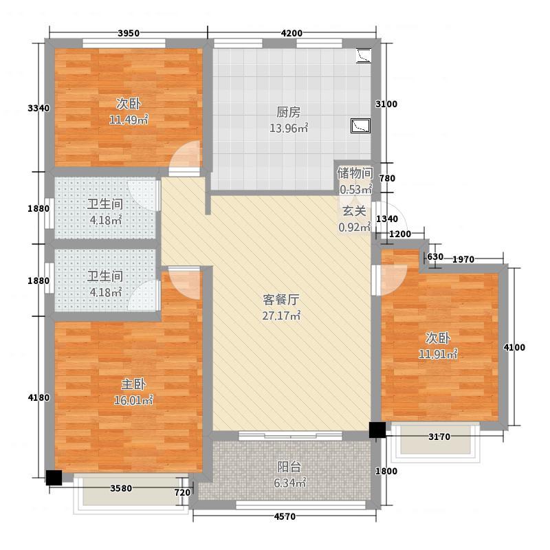 青州泰华城C1户型图