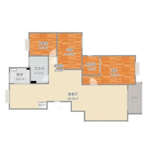 水木华园3室2厅3卫1厨140.00㎡户型图