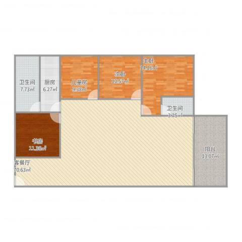 碧翠豪城4室2厅2卫1厨194.00㎡户型图