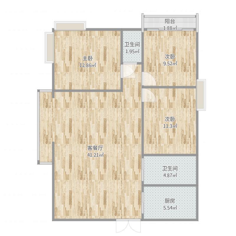 2室3ting