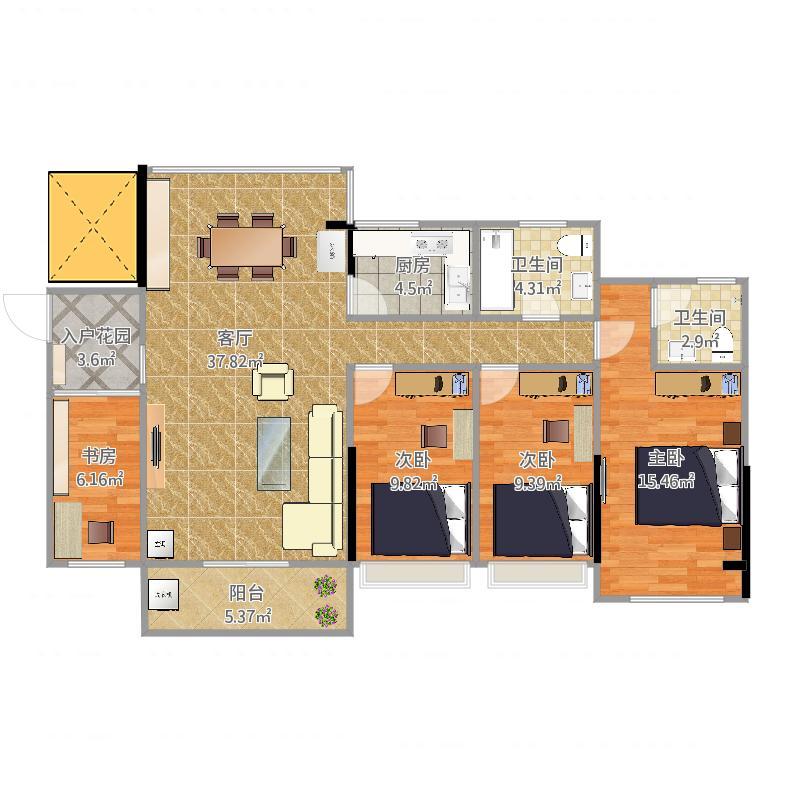 东莞_龙珠公寓(120平方)