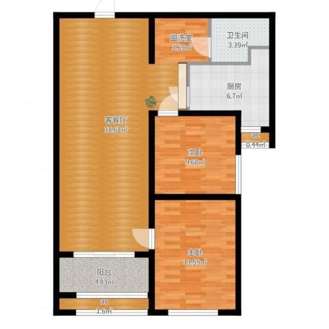 广厦聚隆广场2室2厅1卫1厨99.00㎡户型图