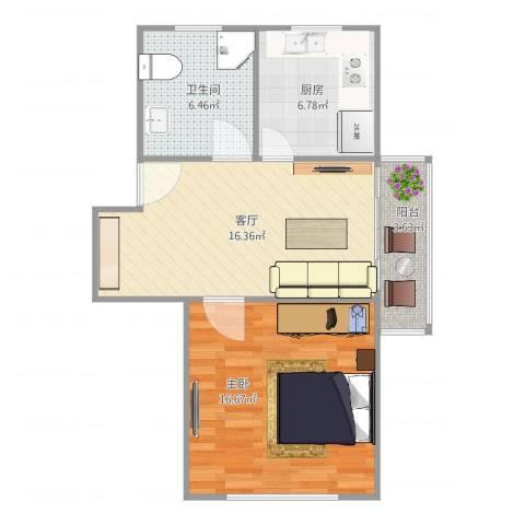 平南三村1室1厅1卫1厨67.00㎡户型图
