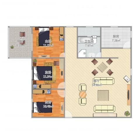 香秀里24#23室1厅1卫1厨140.00㎡户型图