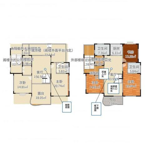 星辰花园5室1厅3卫1厨324.00㎡户型图