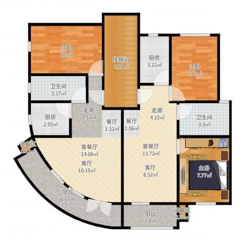 荣鑫公寓3室4厅2卫2厨81.55㎡户型图