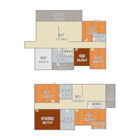 清风雅苑5室2厅4卫1厨1084.00㎡户型图