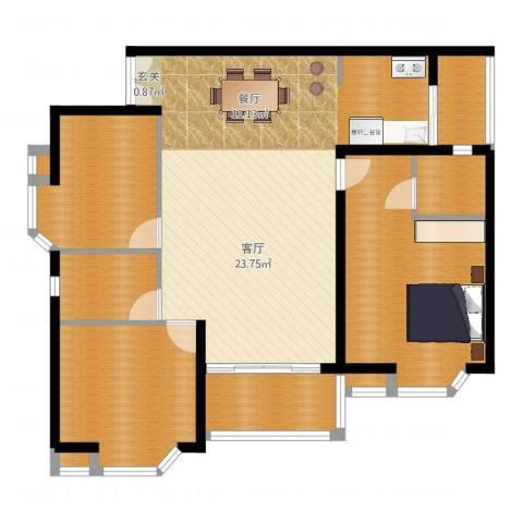 御水南岸2室1厅2卫1厨119.00㎡户型图