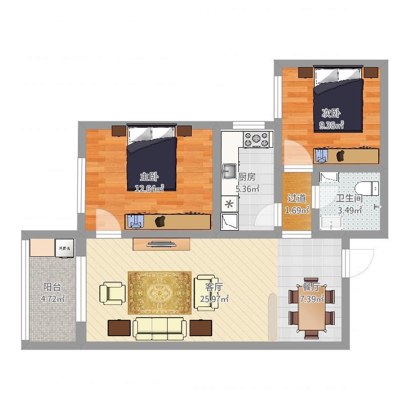 龙居装饰龙湾2-2-607室