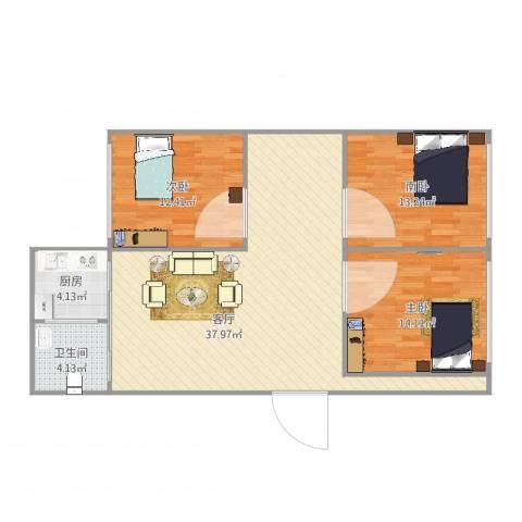 滑翔五小区2室1厅1卫1厨115.00㎡户型图