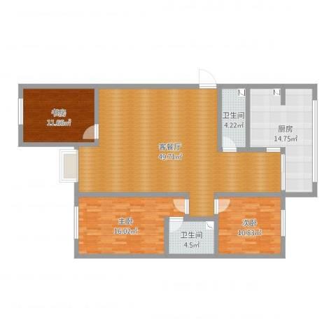 林景家园9-12053室2厅2卫1厨140.00㎡户型图
