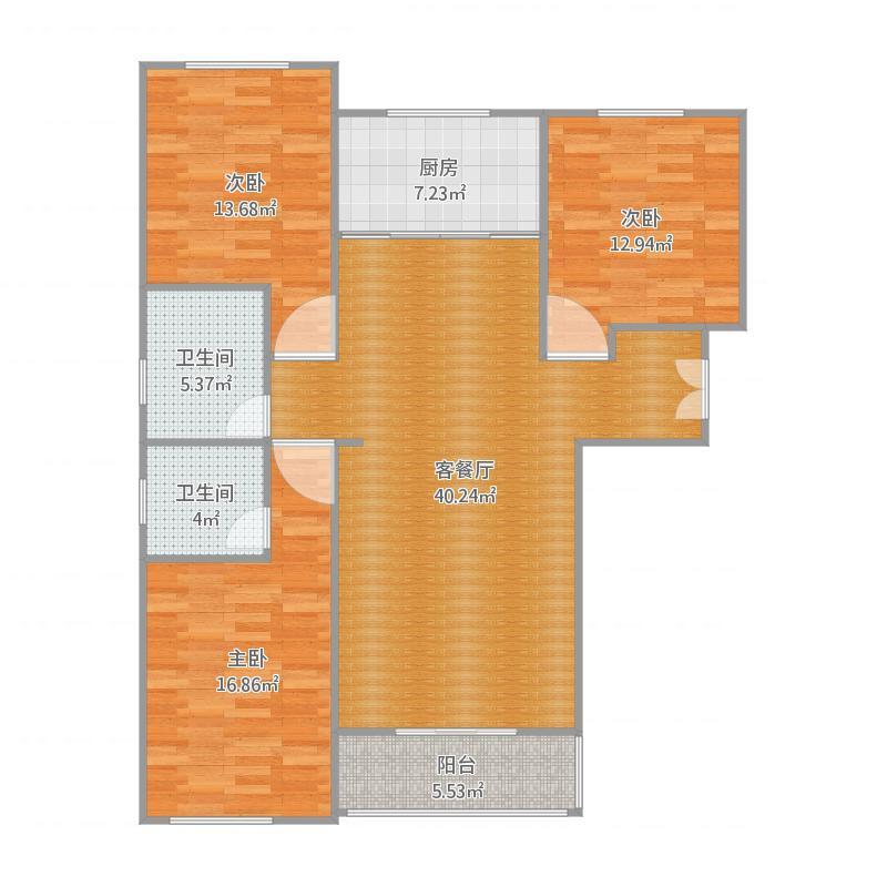 保定_东方名邸6#楼D户型_2016-04-01-1418